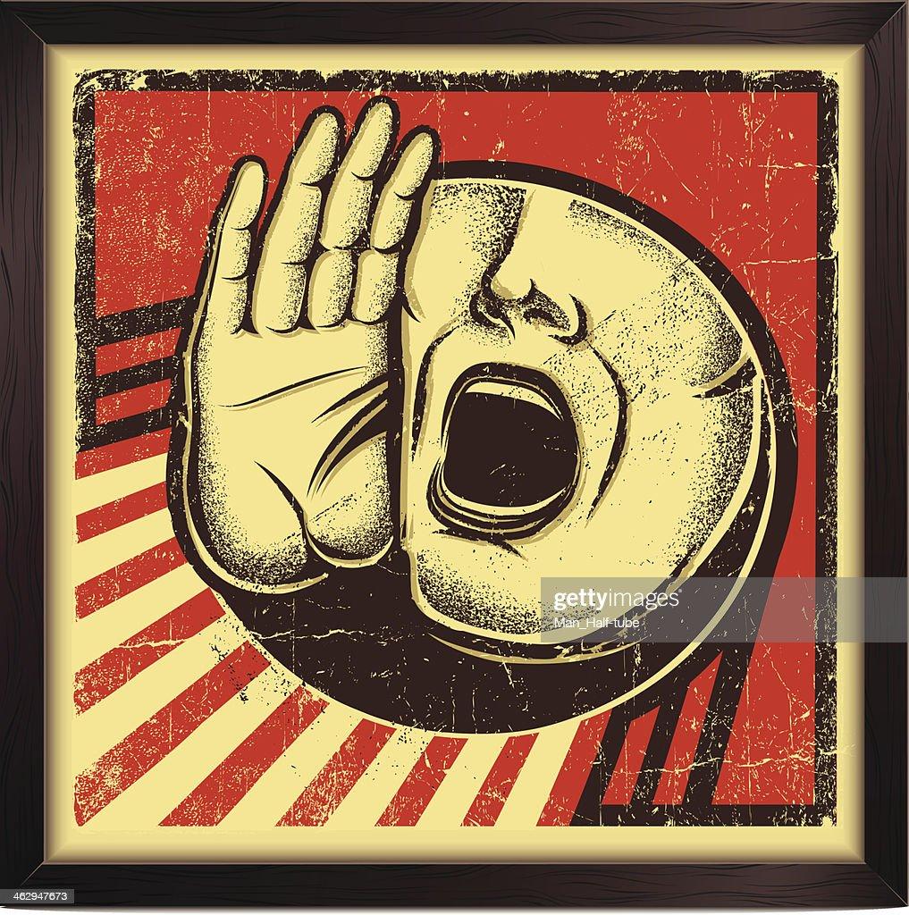 Crier personne Panneau : Clipart vectoriel