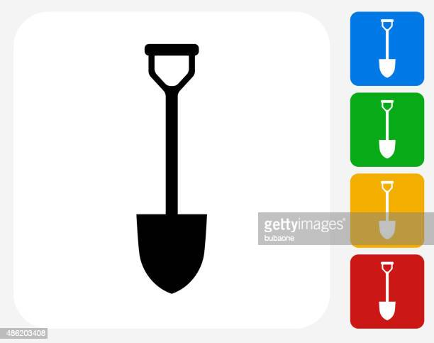 Shovel Icon Flat Graphic Design