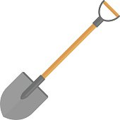 Shovel vector icon.