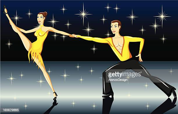show dance - latin american dancing stock illustrations, clip art, cartoons, & icons