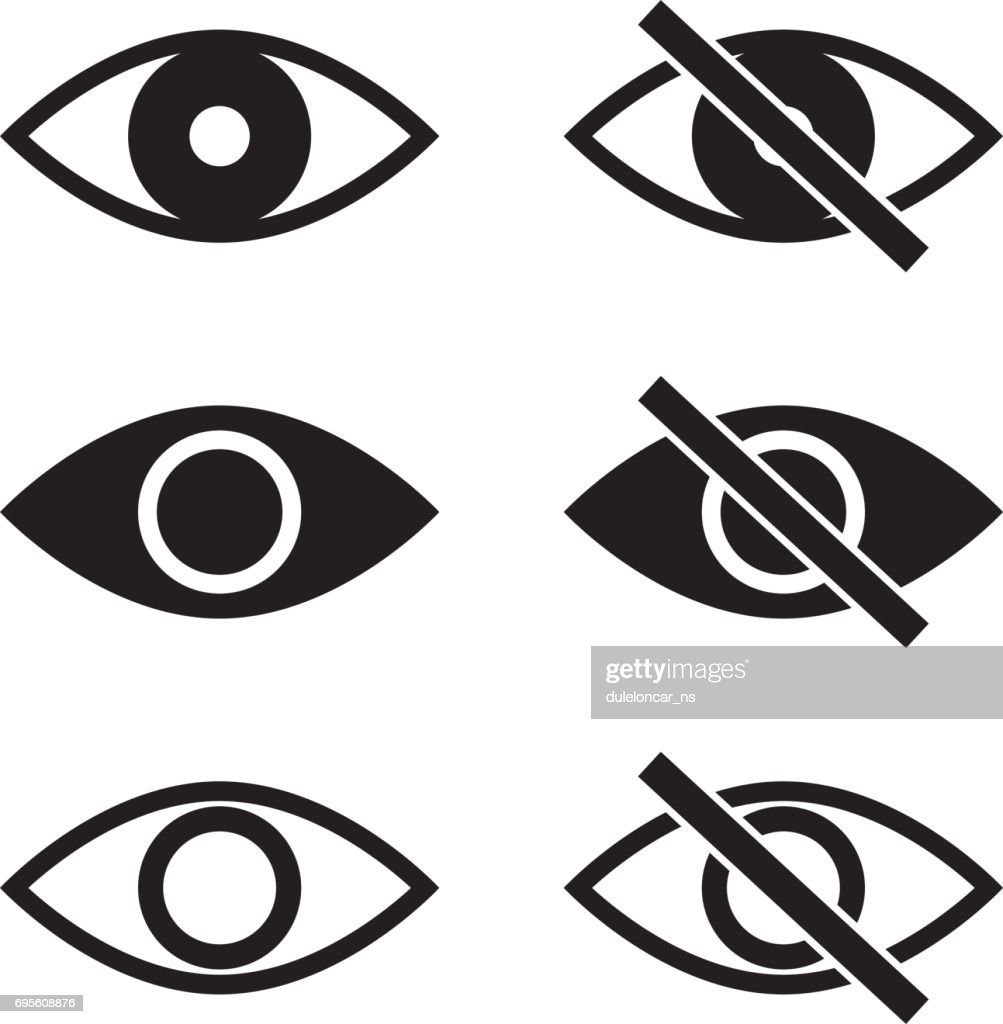 Show Hide Blind Eye Vector Icons