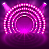 Show light podium purple background.