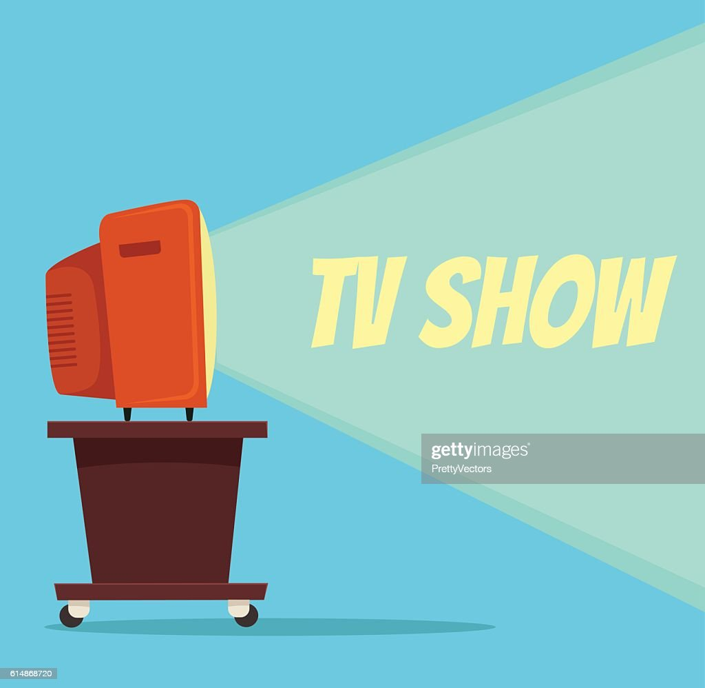 TV show. Vector flat cartoon illustration