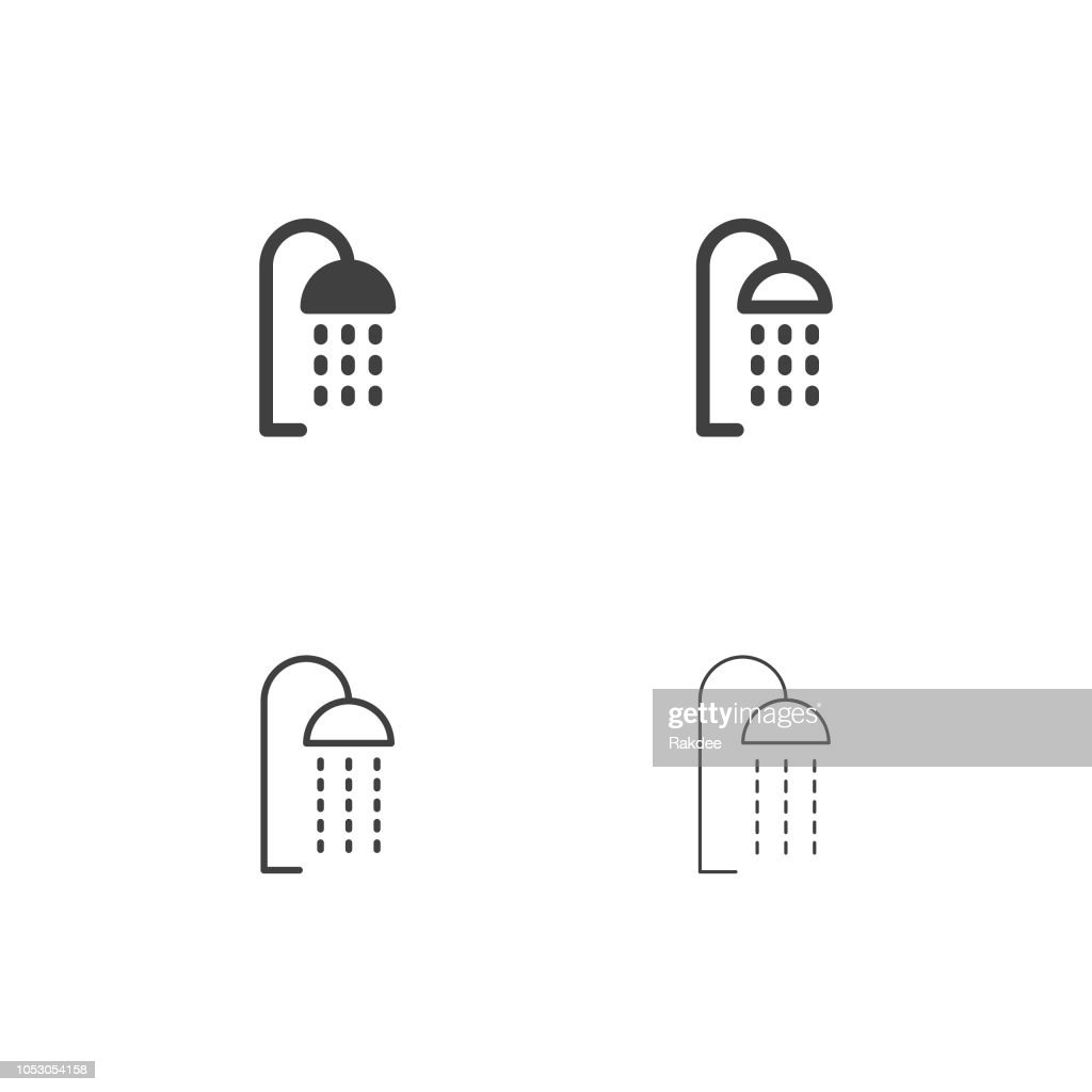 Shower Head Icons - Multi Series : stock illustration