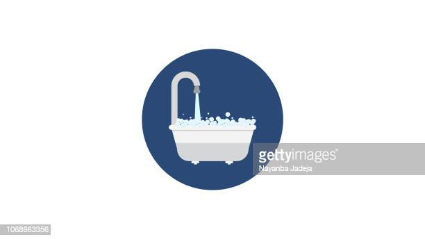 Shower tub Icon illustration