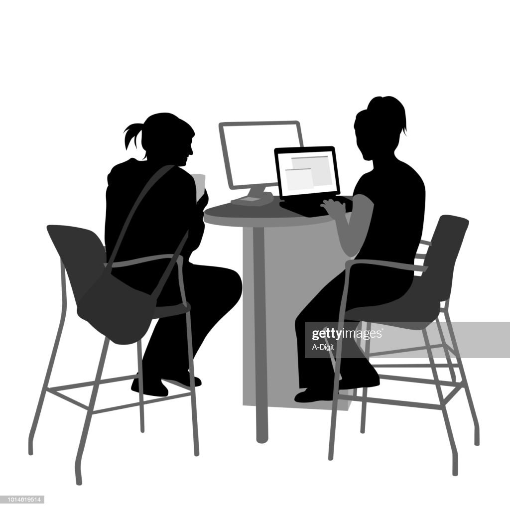 Showing A Friend Computer Search : Vector Art