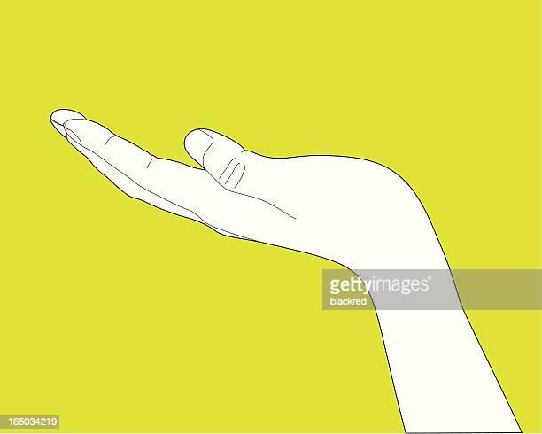 stockillustraties, clipart, cartoons en iconen met showing hand gesture - linkshandig