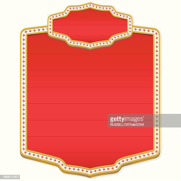 showtime board - awning stock illustrations, clip art, cartoons, & icons