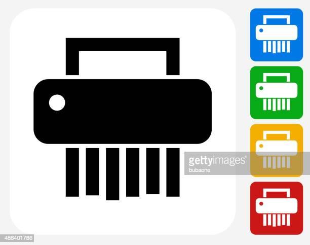 Shredder Icon Flat Graphic Design