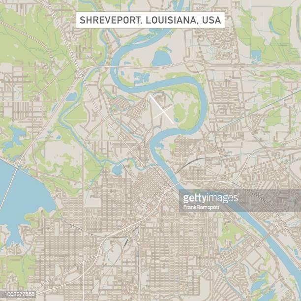 Shreveport Louisiana US City Street Map