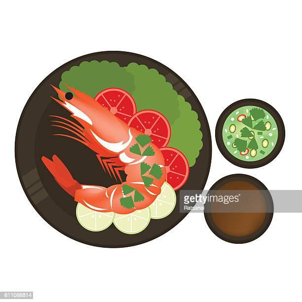 shrimp on dish