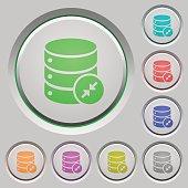 Shrink database push buttons