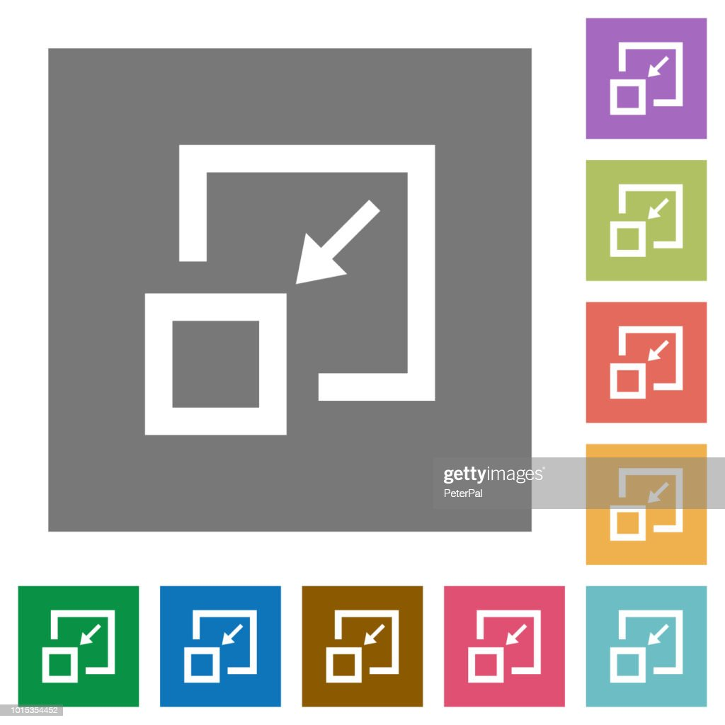 Shrink window square flat icons