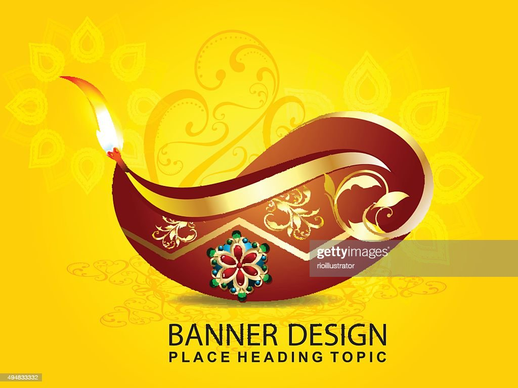shubh diwali celebration background with floral
