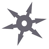 Shuriken flat illustration on white
