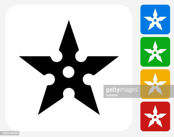 shuriken icon flat graphic design - only japanese stock illustrations, clip art, cartoons, & icons