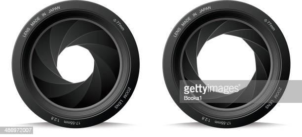 shutter aperture - shutter stock illustrations