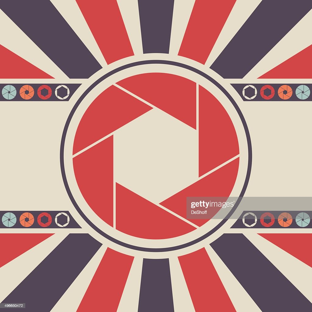 Shutter icon logo. Vector background illustration.