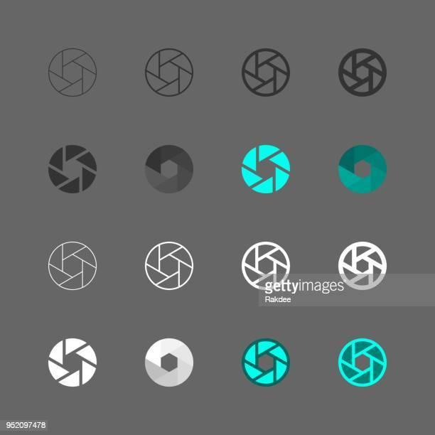shutter icon - multi series - shutter stock illustrations