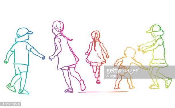 Sibblings Playing Rainbow