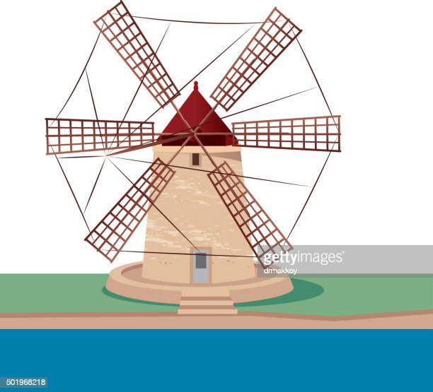 Sizilien Windmühle