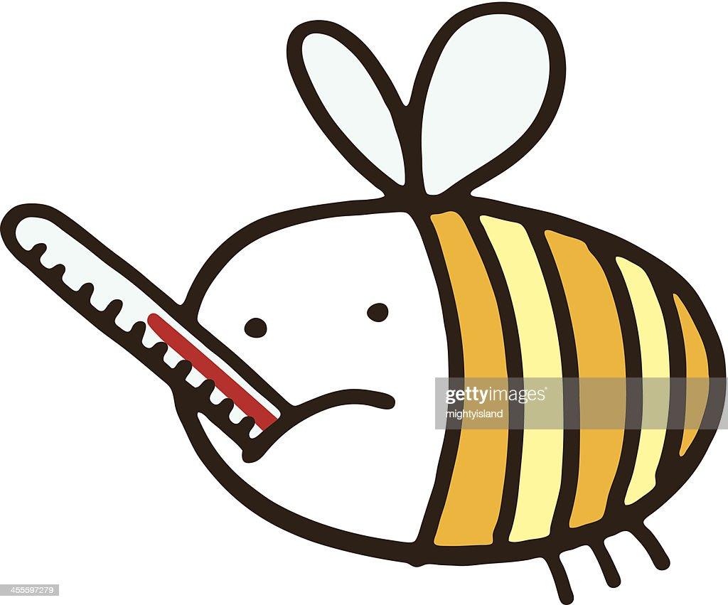 Sick bee : Vector Art