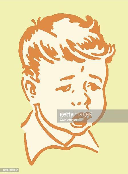 sick boy - sick person stock illustrations, clip art, cartoons, & icons