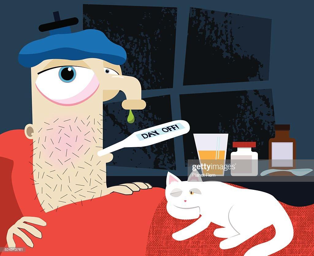 Sick day : stock illustration