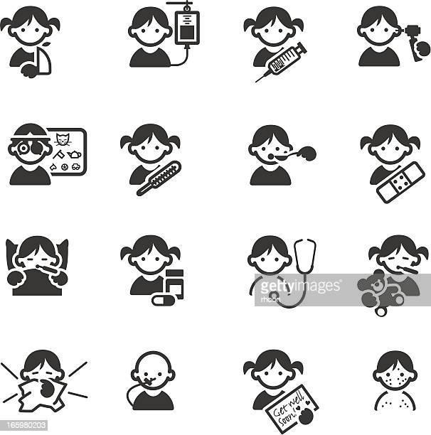sick kids medical icons - sneezing stock illustrations, clip art, cartoons, & icons