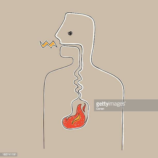 sick with heartburn - diarrhea stock illustrations