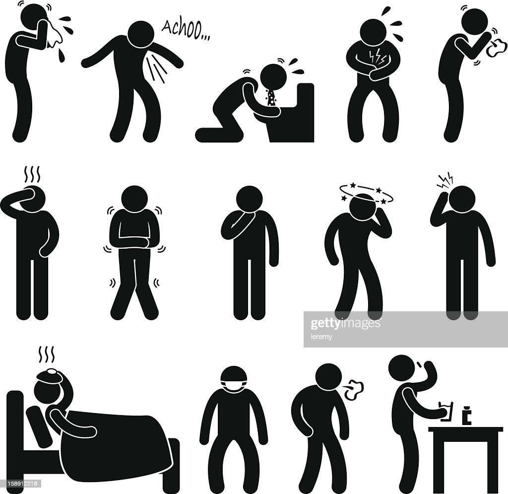 Sickness Illness Disease Symptom Pictogram