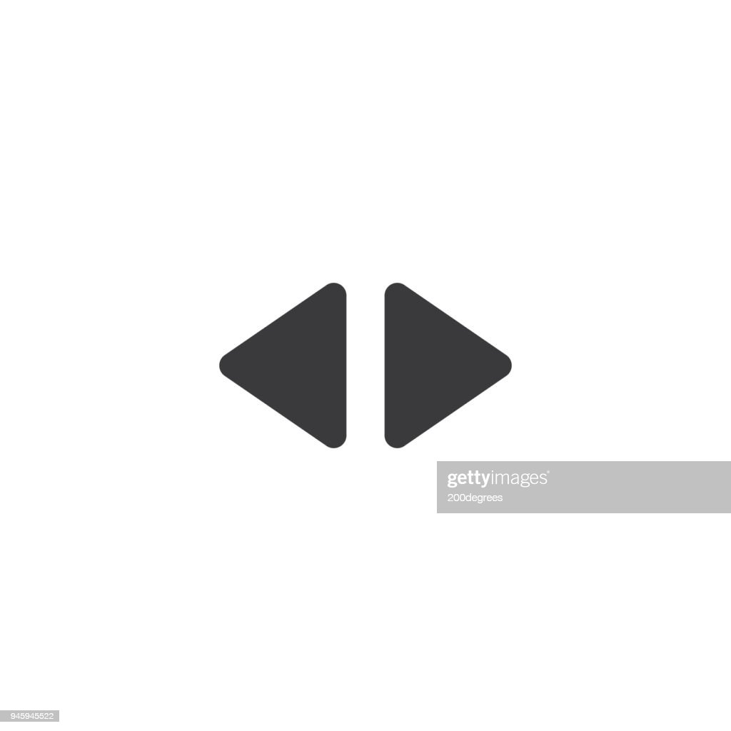2 side arrow Icon. isolated perfect pixel with flat style in white background for UI, app, web site, logo. Vector illustration.