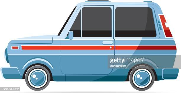 side view 4x4 - car ownership stock illustrations, clip art, cartoons, & icons