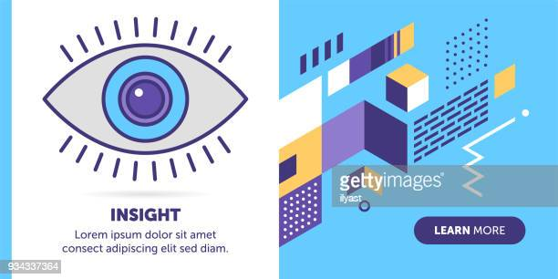 sight banner - ophthalmology stock illustrations, clip art, cartoons, & icons