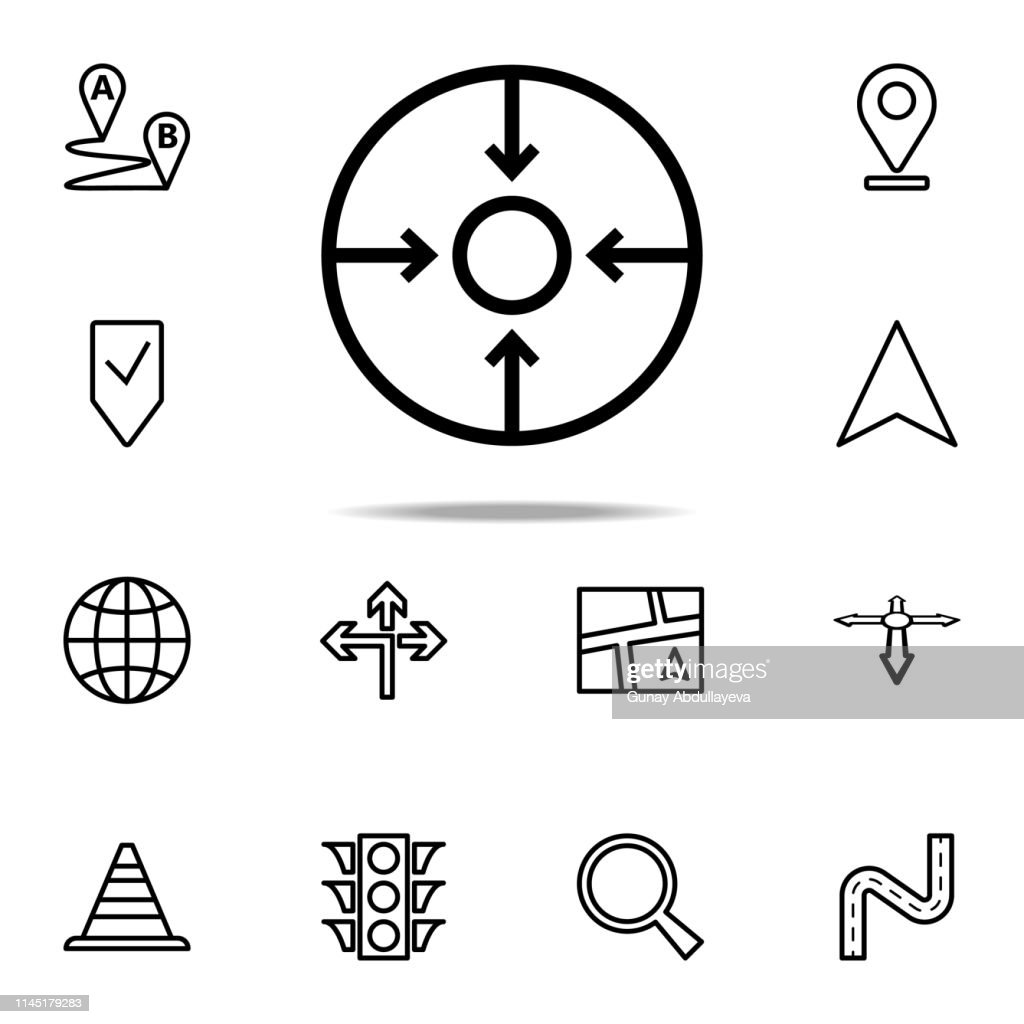 sight with arrows icon. Navigation icons universal set for web and mobile