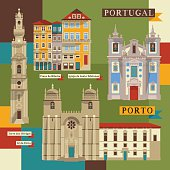 Sights of Porto. Portugal, Europe.