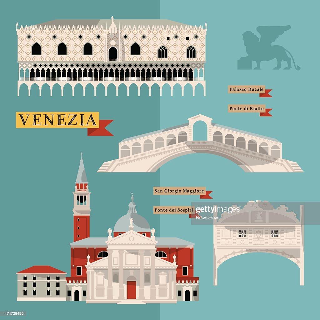 Sights of Venice. Italy, Europe.