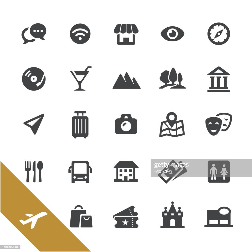 Sightseeing Icons - Select Series : stock illustration