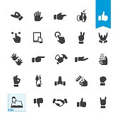 Sign and Gesturing vector icons