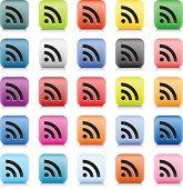 RSS sign color internet icon black pictogram web button