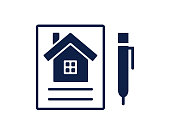 sign contract glyph icon