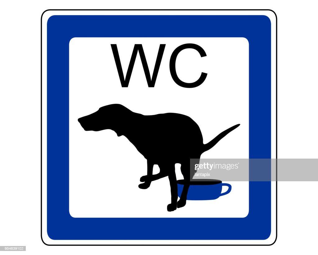 Sign dog toilet