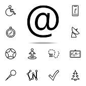 sign icon. Navigation icons universal set for web and mobile