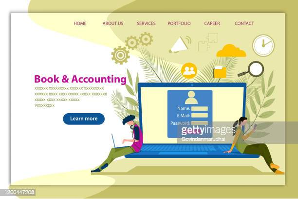sign in and join accounting - voter registration stock illustrations