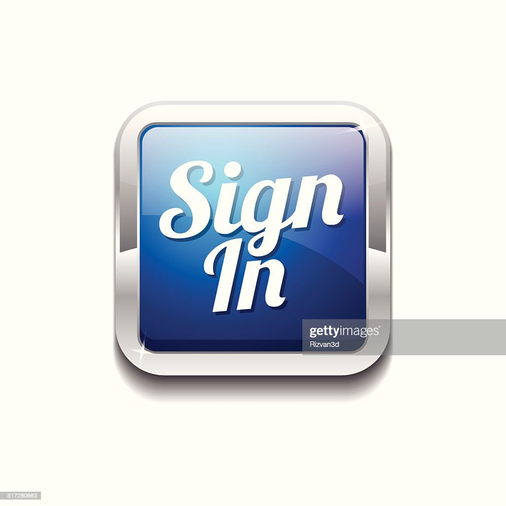 Sign In Blue Vector Icon Button