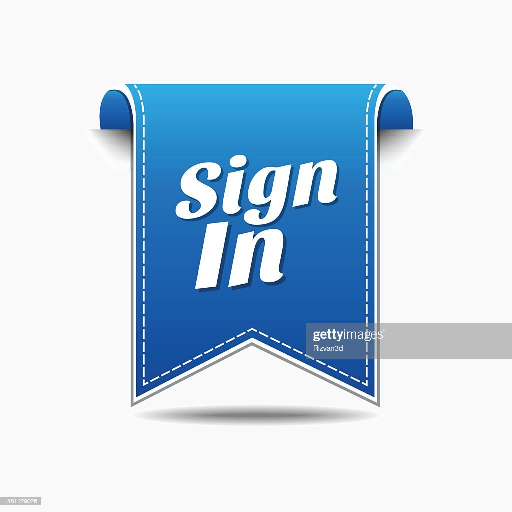 Sign In Blue Vector Icon Design