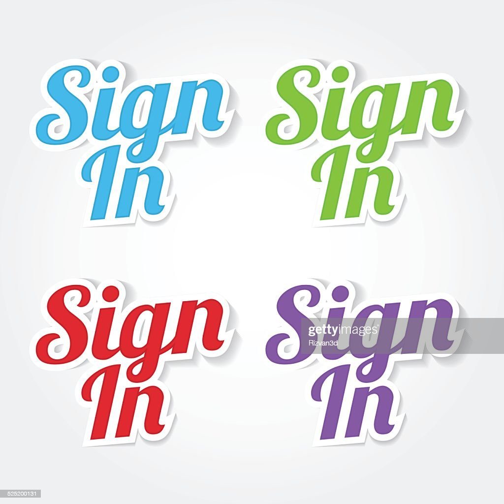 Sign In Colorful Vector Icon Design