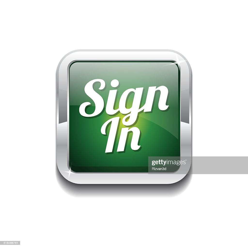 Sign In Green Vector Icon Button