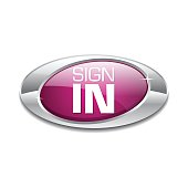 Sign In Pink Vector Icon Button