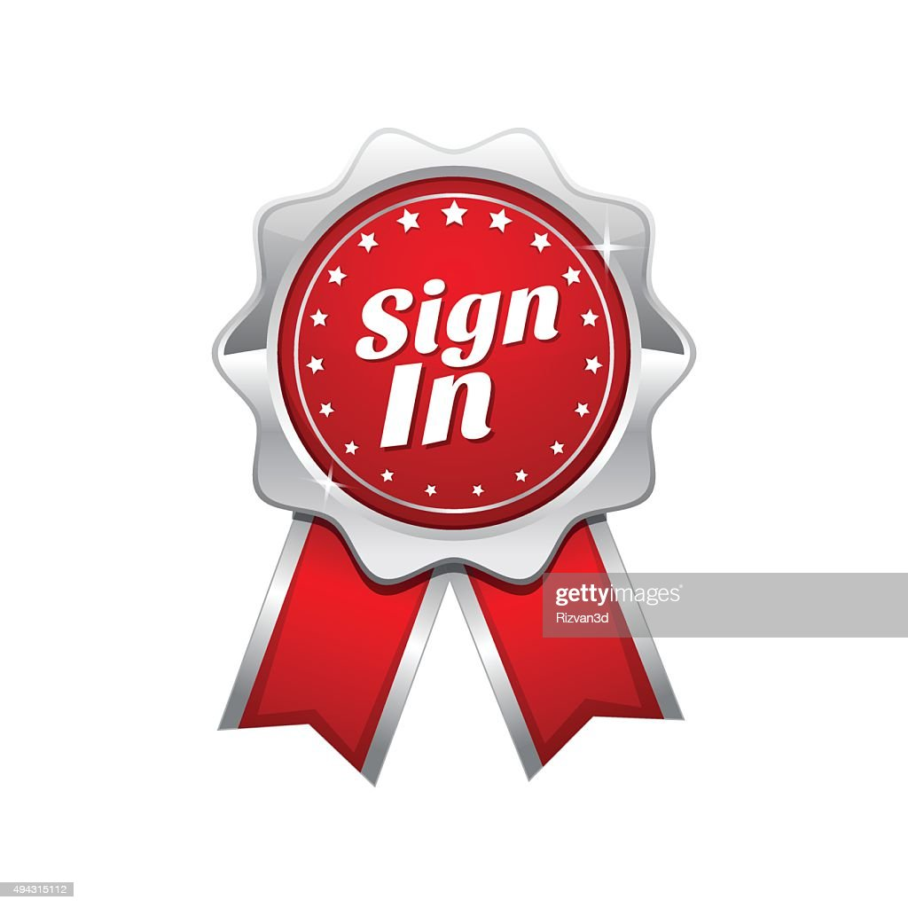 Sign In Red Vector Icon Design